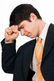 Homem novo com problemas Fotos de Stock Royalty Free