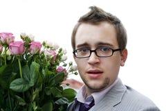 Homem novo com vidros Imagens de Stock Royalty Free