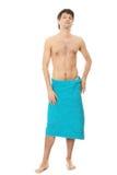 Homem novo considerável com a toalha Fotografia de Stock