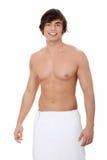 Homem novo considerável com a toalha Imagens de Stock Royalty Free
