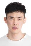 Homem novo considerável de Ásia - isolado sobre um fundo branco fotos de stock