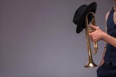 Homem novo considerável do jazz Imagem de Stock Royalty Free