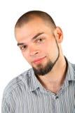 Homem novo da barba do skinhead isolado Foto de Stock