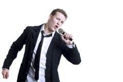Homem novo de canto Imagens de Stock