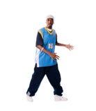Homem novo de Hip-hop que faz o movimento fresco Foto de Stock Royalty Free