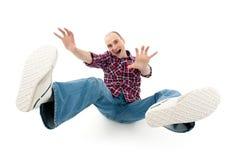 Homem novo de queda Fotos de Stock Royalty Free