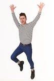 Homem novo de salto Fotografia de Stock Royalty Free