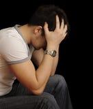 Homem novo deprimido Fotografia de Stock