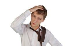 Homem novo deprimido Imagem de Stock Royalty Free