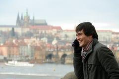Homem novo em Praga Fotos de Stock Royalty Free
