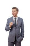 Homem novo em um laço com vidros Imagens de Stock Royalty Free