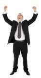 Homem novo em um terno de negócio preto Foto de Stock