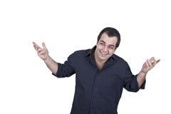 Homem novo engraçado Fotografia de Stock Royalty Free