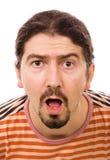 Homem novo espantado Imagem de Stock Royalty Free