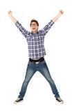 Homem novo Excited Foto de Stock Royalty Free