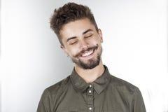 Homem novo feliz Fotografia de Stock