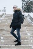 Homem novo feliz com barba imagem de stock royalty free