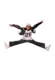 Homem novo fresco de hip-hop no fundo branco Imagem de Stock