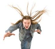 Homem novo gritando Foto de Stock
