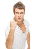 Homem novo irritado Imagem de Stock Royalty Free