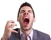 Homem novo irritado Fotografia de Stock