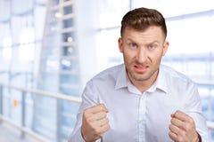 Homem novo irritado fotos de stock royalty free