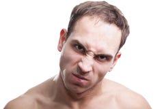 Homem novo irritado fotografia de stock royalty free