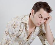Homem novo irritado e triste Imagem de Stock Royalty Free