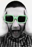 Homem novo louco que grita Fotografia de Stock Royalty Free