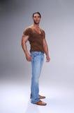 Homem novo muscular Fotografia de Stock Royalty Free
