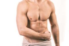Homem novo muscular fotos de stock