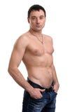 Homem novo muscular considerável Foto de Stock Royalty Free