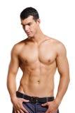 Homem novo muscular saudável Imagens de Stock Royalty Free