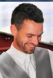 Homem novo não barbeado. fotografia de stock royalty free