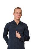 Homem novo na camisa Fotografia de Stock