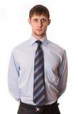 Homem novo na camisa e no laço Fotos de Stock Royalty Free