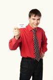 Homem novo na camisa e no laço Foto de Stock Royalty Free