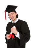 Homem novo na graduação Imagem de Stock