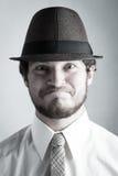 Homem novo no chapéu Fotos de Stock Royalty Free