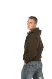 Homem novo no hoodie Fotografia de Stock