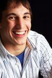Homem novo no modo feliz fotografia de stock royalty free