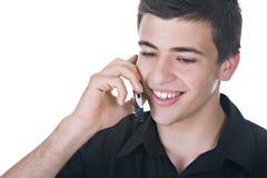 Homem novo no telefone Imagens de Stock