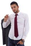 Homem novo no vestuário ocasional do escritório Imagens de Stock Royalty Free