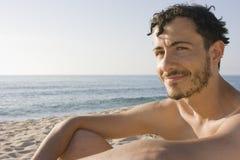 Homem novo - praia, Sardinia, Italy fotos de stock royalty free