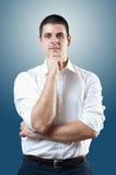 Homem de negócios na camisa Imagens de Stock Royalty Free