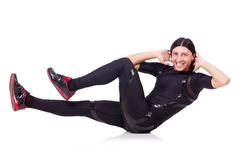 Homem novo que faz exercícios Imagens de Stock Royalty Free