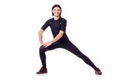 Homem novo que faz exercícios Foto de Stock