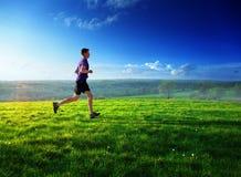 Homem novo running Fotografia de Stock