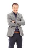 Homem novo seguro na roupa elegante Imagem de Stock Royalty Free