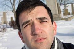 Homem novo triste Fotografia de Stock